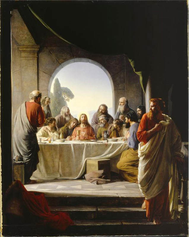 A painting depicting The Last Supper.