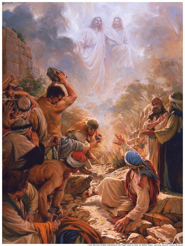 A painting depicting the vision of Stephen.