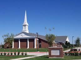 A Mormon church building.